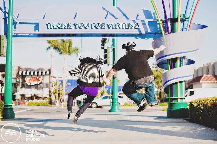 Disneyland Engagement Session Photos in Anaheim Orange County California Adventure fun