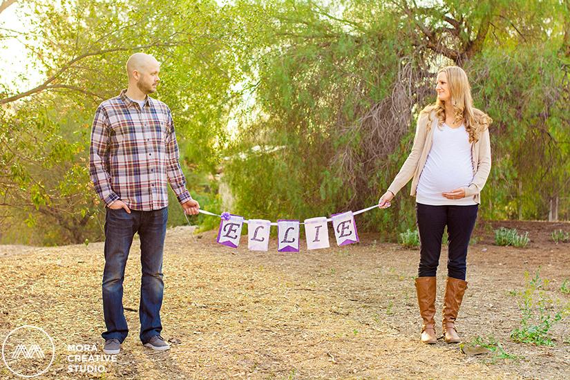 San Dimas, California pregnancy maternity photo shoot session in Los Angeles county with Orange County wedding and portrait photographers Mora Creative Studio